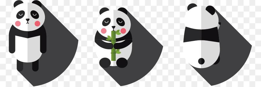 Panda Géant Dessin Animé Noir Et Blanc Png Panda Géant