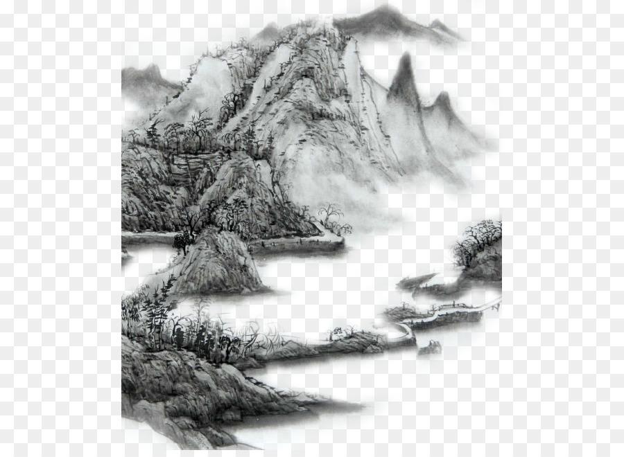 Lavis A Lencre De Peinture Montagne Gamme De Montagne Png Lavis A Lencre De Peinture Montagne Gamme De Montagne Transparentes Png Gratuit