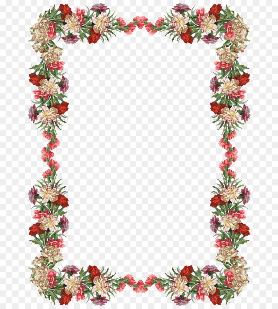 Bordure De Fleurs Fleur Cadres Photo Png Bordure De