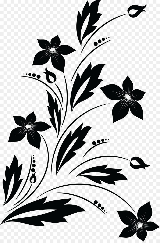Fleur Dessin Noir Et Blanc Png Fleur Dessin Noir Et
