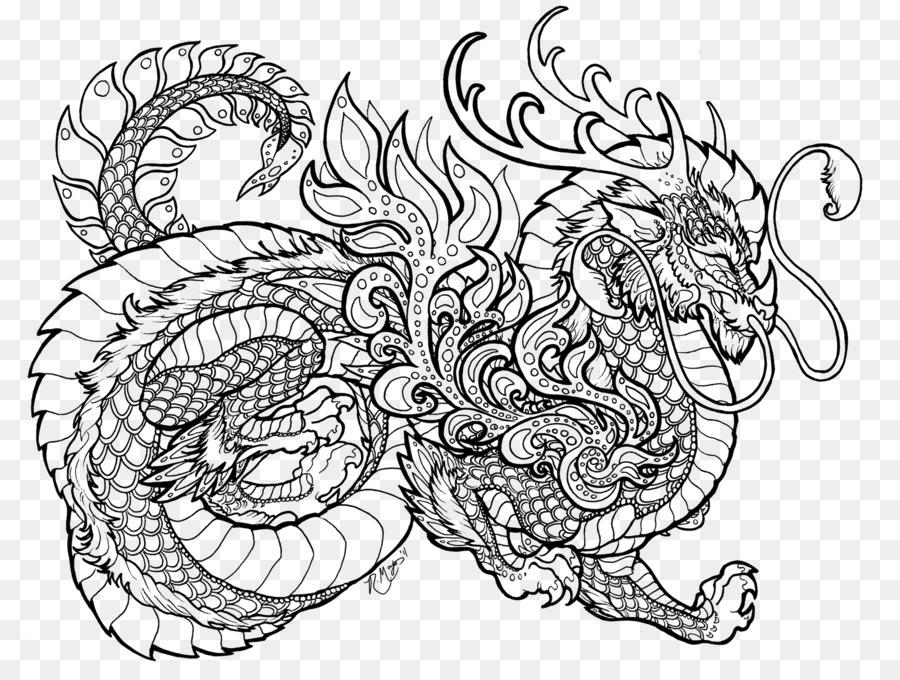 Livre de coloriage mandala dragon chinois de l 39 enfant dragon - Mandala de dragon ...