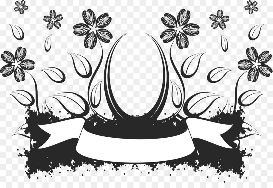 Fleur Noir Et Blanc Dessin Png Fleur Noir Et Blanc