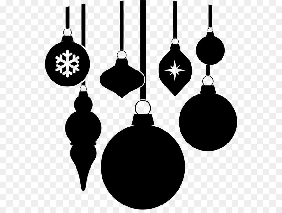 Ornement De Noël Noir Et Blanc Noël Png Ornement De Noël