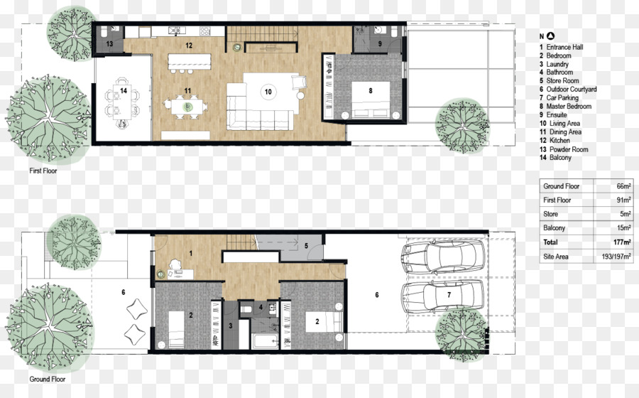 Maison Mitoyenne Cube Plan 10 Pieces 172