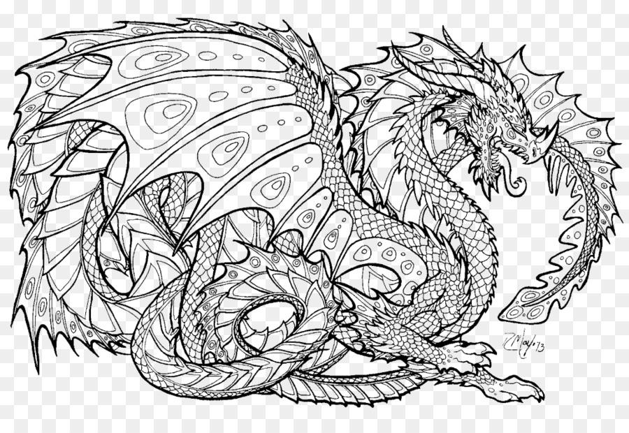 Livre De Coloriage Dragon Adulte Png Livre De Coloriage Dragon Adulte Transparentes Png Gratuit