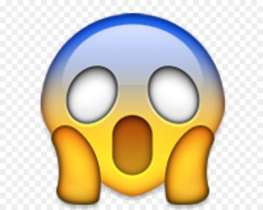 Emoji Crier Sticker IPhone Peur