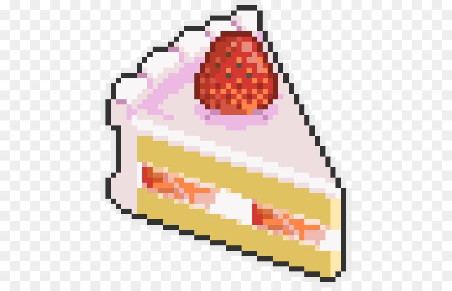 Gâteau à La Crème De Fraise Le Pixel Art Gâteau Png