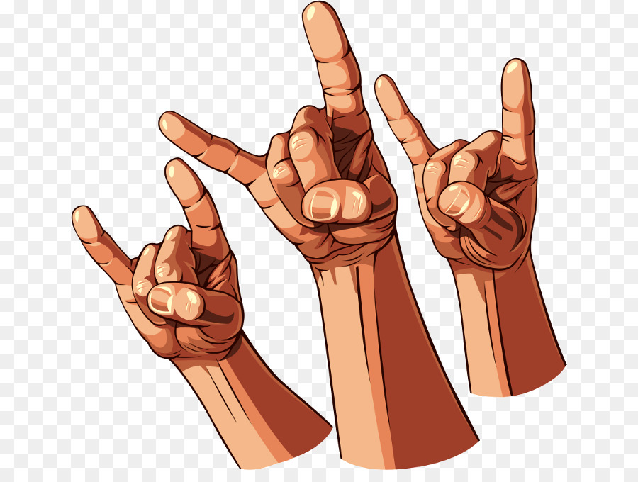 Signe Des Cornes Le Heavy Metal Rock And Roll Png Signe