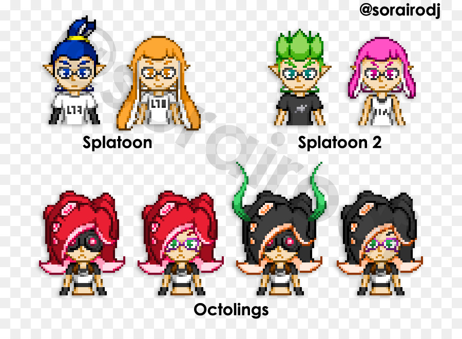 Pixel Art Splatoon 2 Personnage