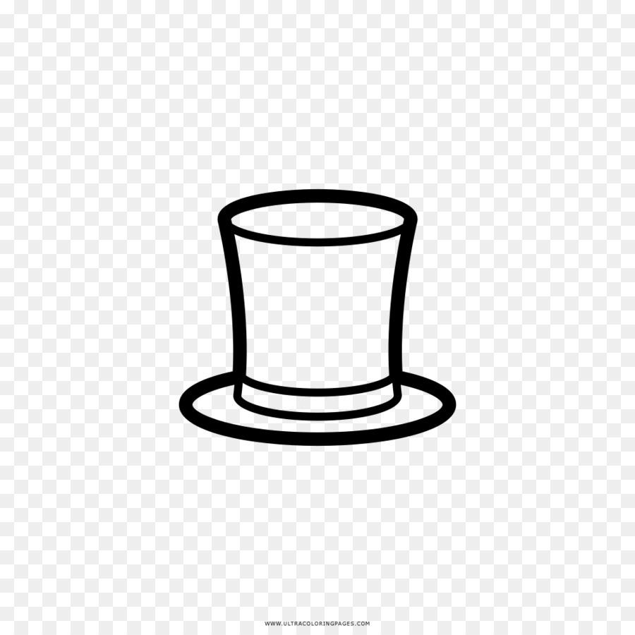 Dessin Livre De Coloriage Chapeau Haut De Forme Noir Et Blanc Chapeau
