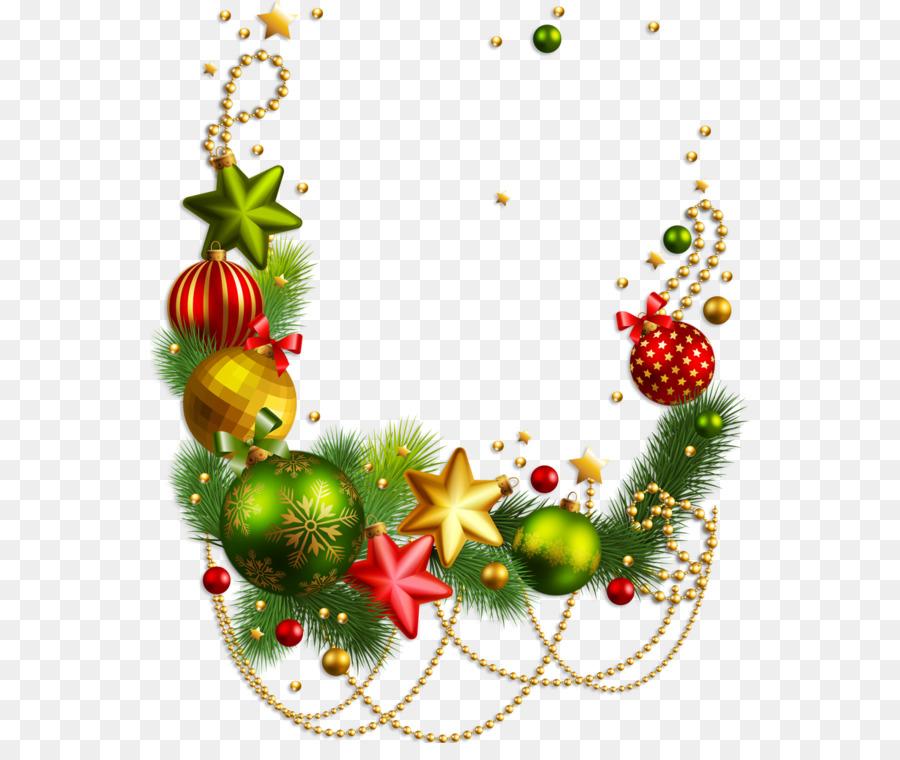 Bordures Décoratives Le Père Noël Ornement De Noël Png