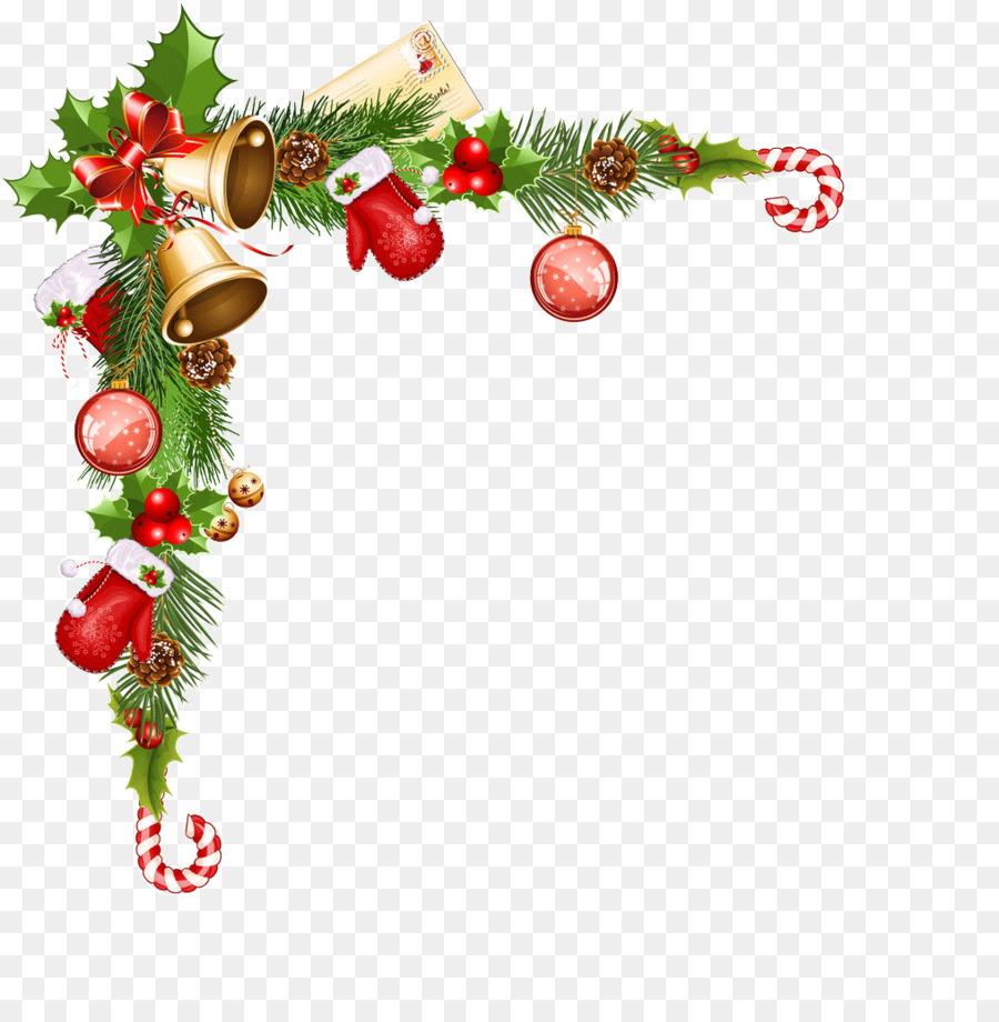 Le Jour De Noël Bordures Décoratives Clip Art De Noël Png
