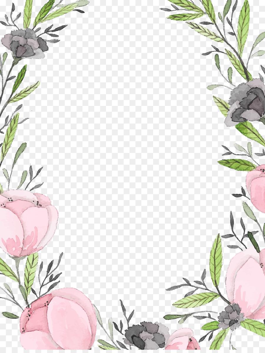 Invitation De Mariage Mariage Couronne De Fleurs Png